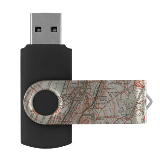 Bicycle Roads in New York and Conneticut 3 USB Flash Drive