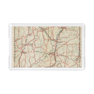 Bicycle Roads in New York and Conneticut 4 Acrylic Tray