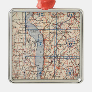 Bicycle Roads in New York and Conneticut 4 Christmas Ornament