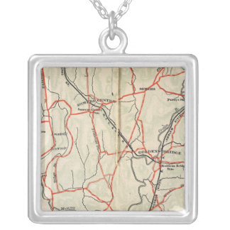 Bicycle Roads in New York and Conneticut 4 Silver Plated Necklace