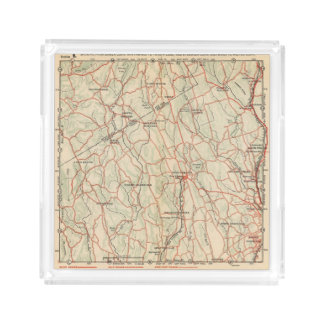 Bicycle Roads in New York and Conneticut 5 Acrylic Tray