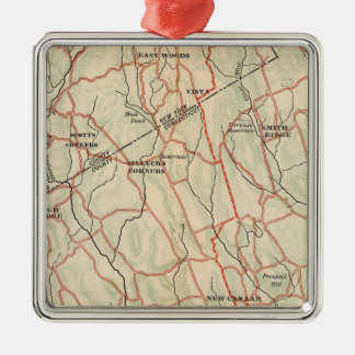 Bicycle Roads in New York and Conneticut 5 Silver-Colored Square Decoration