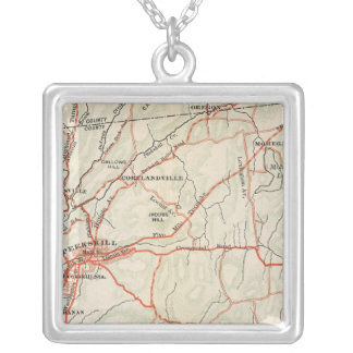 Bicycle Roads in New York and Conneticut 5 Silver Plated Necklace