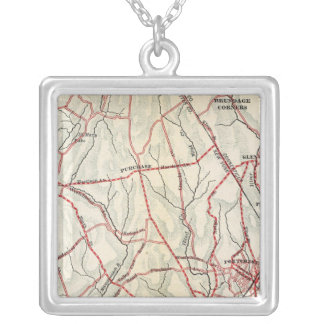 Bicycle Roads in New York and Conneticut 6 Silver Plated Necklace