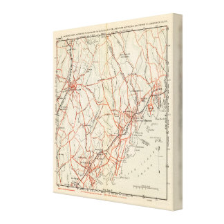 Bicycle Roads in New York and Conneticut 8 Canvas Print