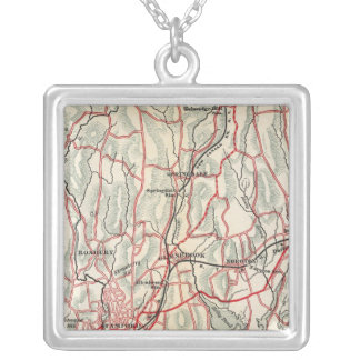 Bicycle Roads in New York and Conneticut 8 Silver Plated Necklace