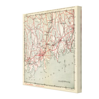 Bicycle Roads in New York and Conneticut Canvas Print