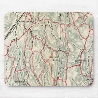 Bicycle Roads in New York and Conneticut Mouse Mat