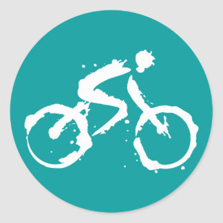 Bicycle Round Sticker