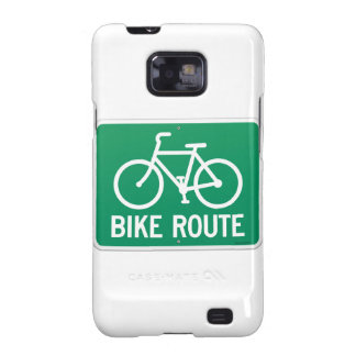Bicycle Route Sign Samsung Galaxy S2 Case