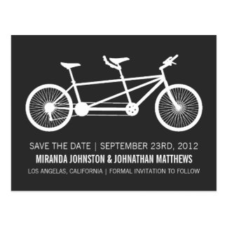 Bicycle Save The Date Post Cards