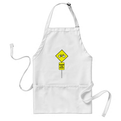 Bicycle Share The Road Apron