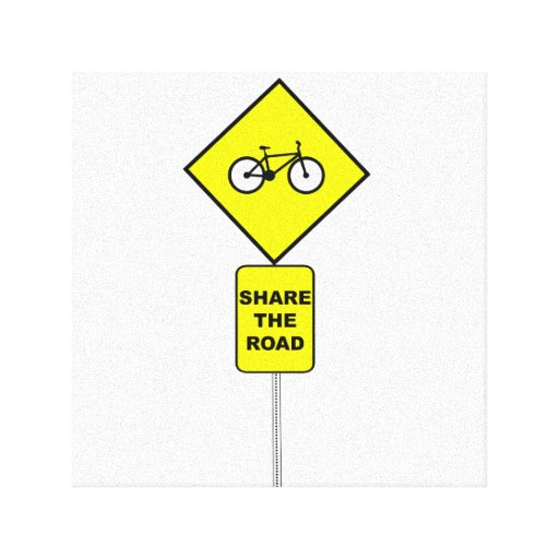 Bicycle Share The Road Canvas Prints