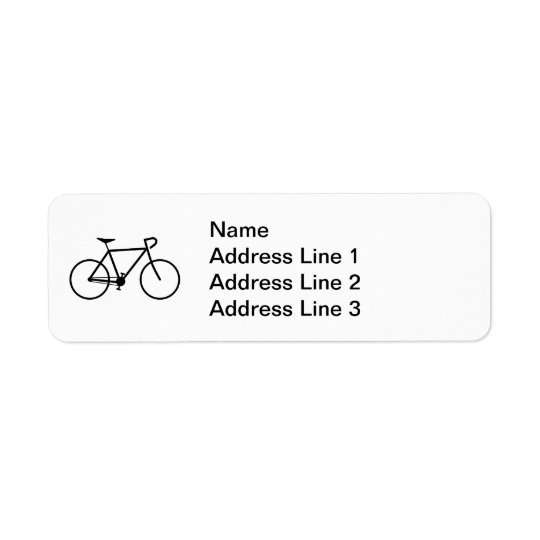 Bicycle Silhouette Address Label