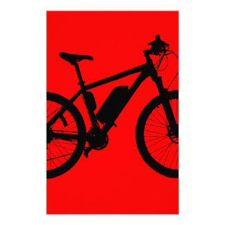 Bicycle Silhouette Customized Stationery