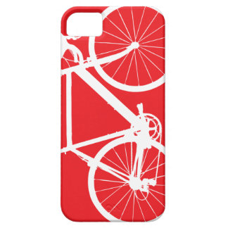 Bicycle Silhouette Minimal Art Red and White iPhone 5/5S Cover