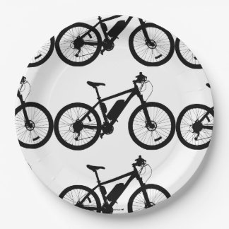 Bicycle Silhouette Paper Plate
