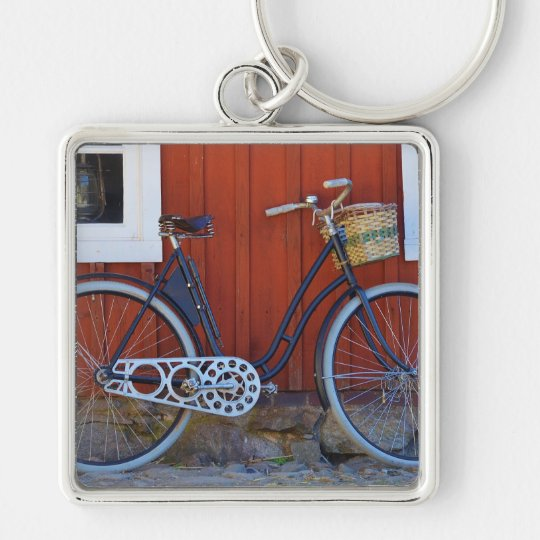 bicycle Silver-Colored square key ring