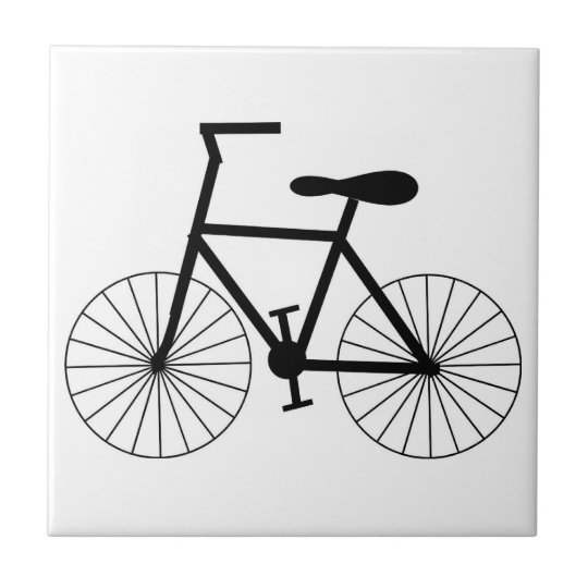 Bicycle Small Square Tile