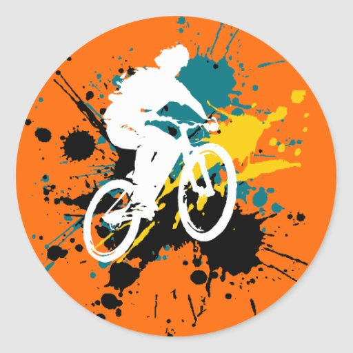 Bicycle Round Stickers