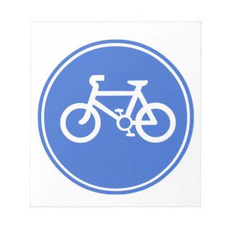 Bicycle Symbol Notepad