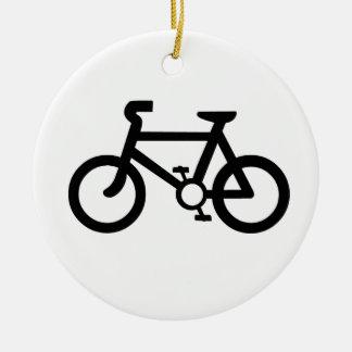 Bicycle Symbol Round Ceramic Decoration