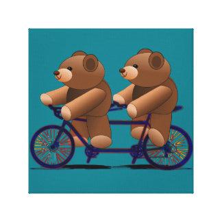 Bicycle Tandem Teddy Bear Print