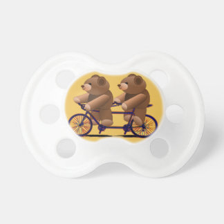 Bicycle Tandem, Teddy Bear Print Baby Pacifier