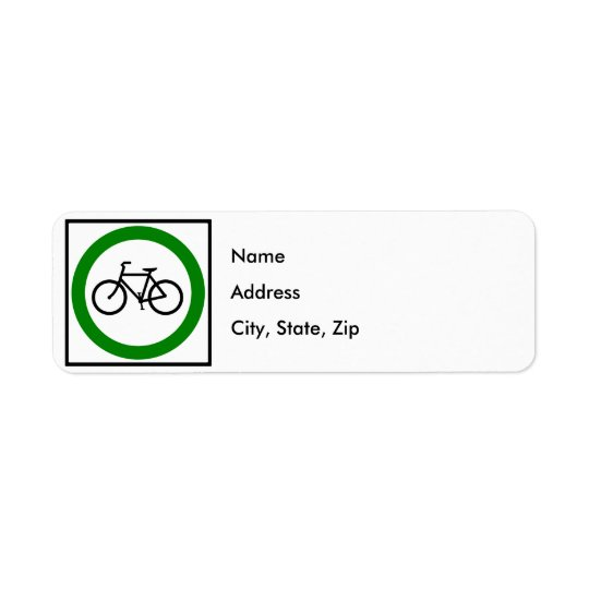 Bicycle Traffic Highway Sign