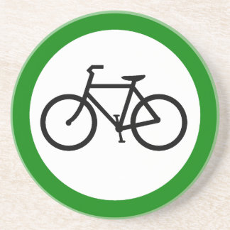Bicycle Traffic Highway Sign Coaster