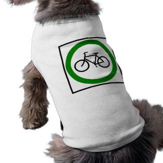 Bicycle Traffic Highway Sign Sleeveless Dog Shirt