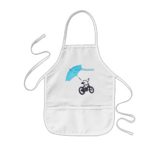 bicycle + umbrella kids apron