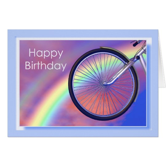 Bicycle Wheel Birthday Card