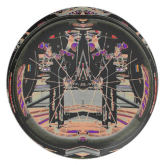 Bicycle Wheel by Alexandra Cook Dinner Plate