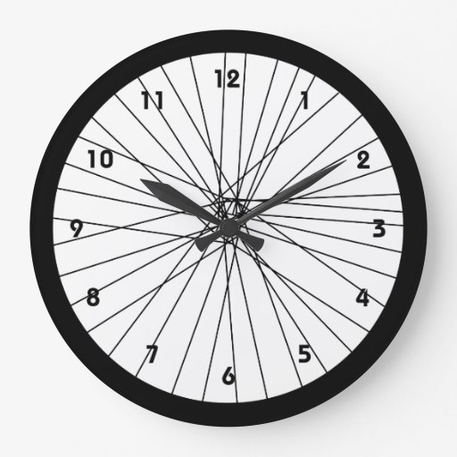 Bicycle Wheel clock with numbers