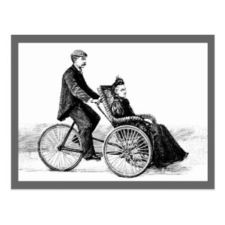 Bicycle Wheelchair - Vintage Victorian Bicycles Postcard