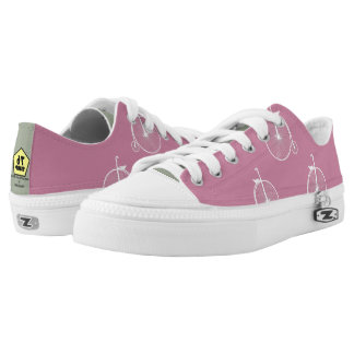 Bicycle White Pink Low Tops