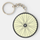 bicycle wire wheel basic round button key ring