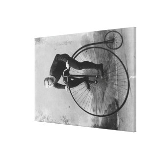 Bicycle with Large Front Wheel Photograph Canvas Print