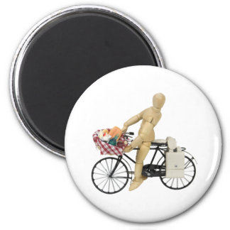 BicyclePicnicBasket120509 copy 6 Cm Round Magnet