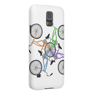 Bicycles! 4 different colored bikes interlocked samsung galaxy nexus covers