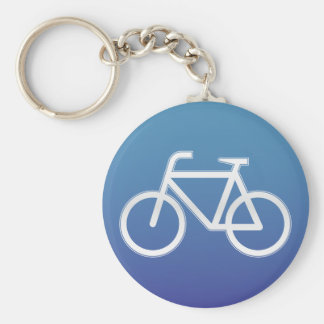 Bicycles allowed road sign basic round button key ring