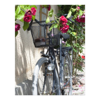 Bicycles and roses in Sweden 21.5 Cm X 28 Cm Flyer
