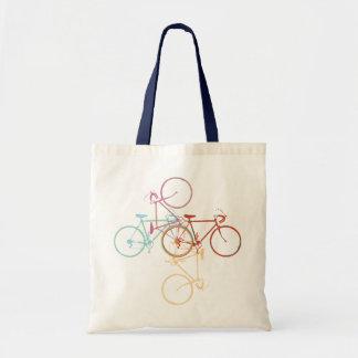 bicycles budget tote bag