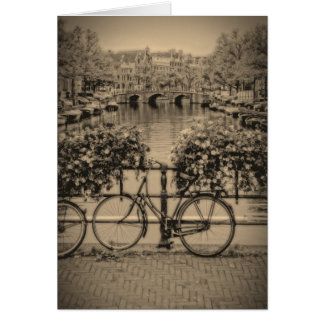 Bicycles & Canals - Classic Amsterdam Greeting Card