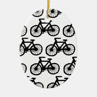 Bicycles Ceramic Oval Decoration