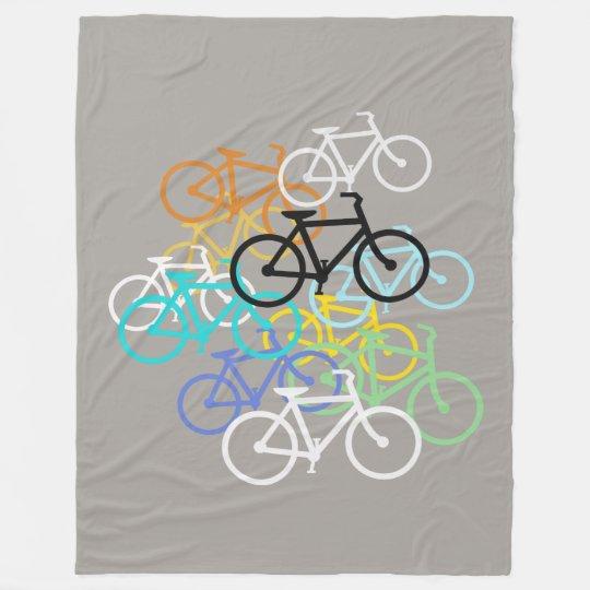 Bicycleschoose your background colour. fleece blanket