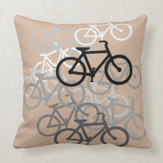 Bicycles..Choose your colors. Throw Pillow
