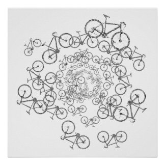 bicycles cool-decor poster