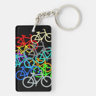 Bicycles Double-Sided Rectangular Acrylic Key Ring